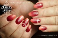 Interessanter Farbverlauf Rot Orange - Nageldesign Nageldesign