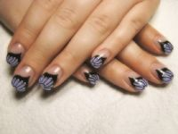 Lila Schmetterling, Butterfly Nail Nageldesign