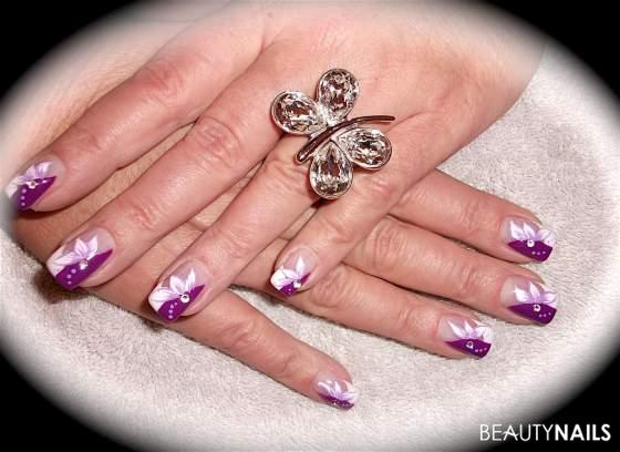 download this Lila Weiss Mit Ttern Nailart And Nageldesign picture