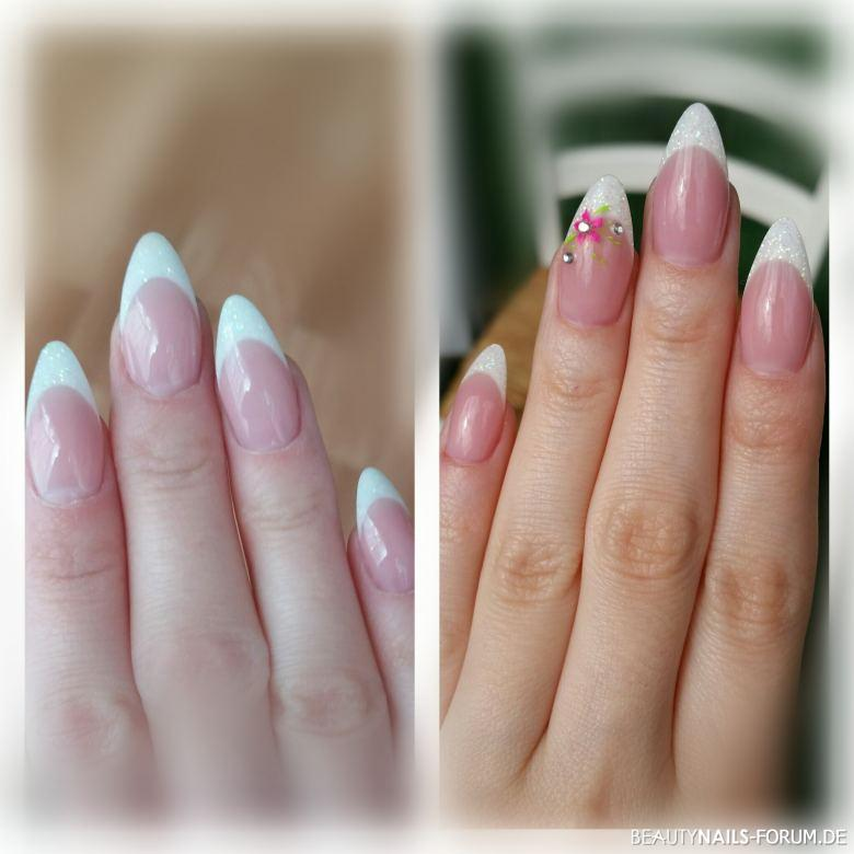Mandel förmige french nails Nageldesign