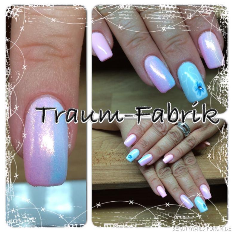 Meerjungfrauen Pigment Nageldesign