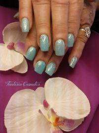 Meermaid Nails blue Nageldesign