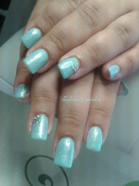 Mermaid Effekt Pigment Nails Nageldesign