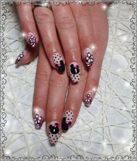 Minnie Maus Nailart Design Nageldesign