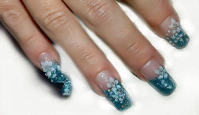 Nagel Design in Acryl Nageldesign -  Nailart
