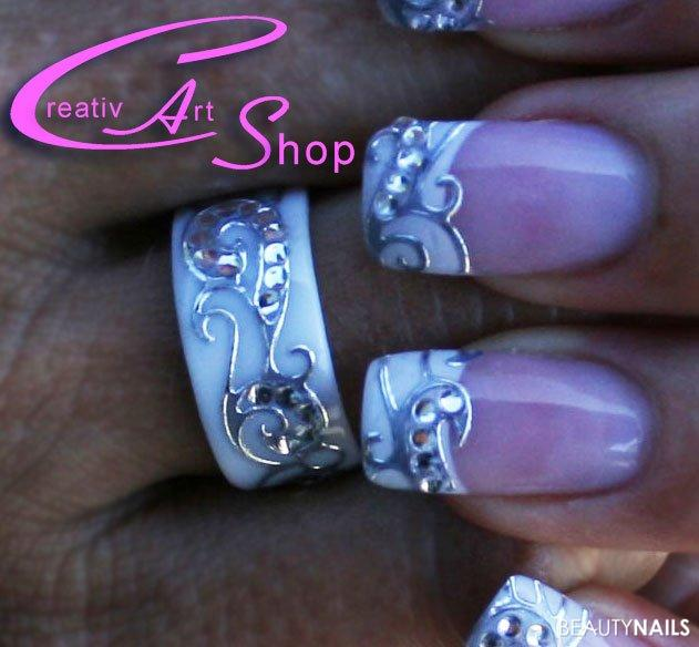 Nailart mit Ring (Ringrohling von Creativ Art Shop) Nageldesign -  Nailart