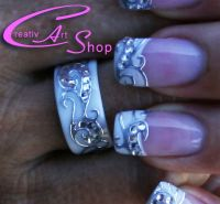 Nailart mit Ring (Ringrohling von Creativ Art Shop) Nageldesign