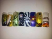 Naildesign Motive mit Pinsel gemalt Nageldesign