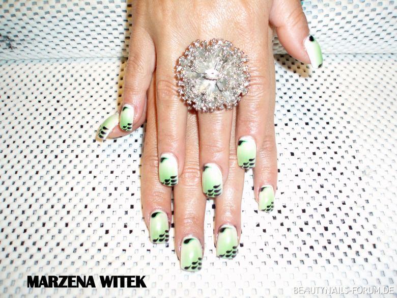 neon grün und kleckse