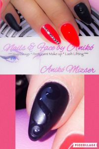 Neon Red & Black Matt & Glam Nails... Nageldesign