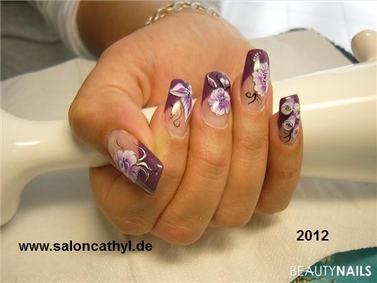 one stroke nailart