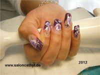 one stroke nailart Nageldesign
