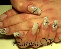 one-stroke Nageldesign