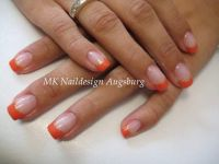 Orange Nageldesign