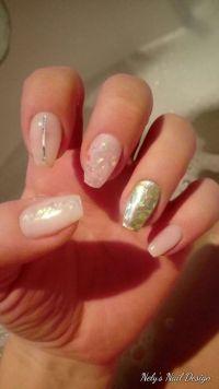 Perlmutt Nailart mit Glitter - schönes Nageldesign Nageldesign