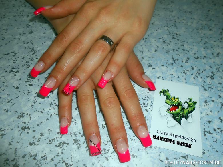 pink neon und schwarze gerade linien mit weißen punkten