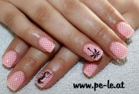 pink uv Gel Nageldesign