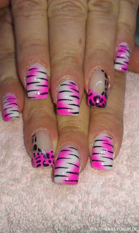 Pink weiss schwarz