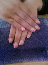 pink/weiß Nageldesign