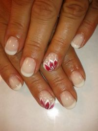 Pink&white plus Gelmalerei Nageldesign