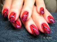 Red and Black Nageldesign