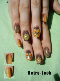 Retro-Look Nageldesign
