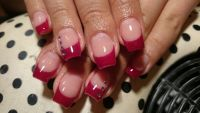 rotes french Nageldesign