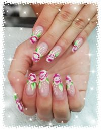 Sommerliches One Stroke Design Nageldesign