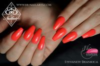 Sommertrend Orange - Fullcover Hinguckernägel Nageldesign