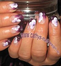 Sparkle Multiviolett Nageldesign