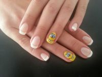 Spongebob Nails handgemalt Nageldesign