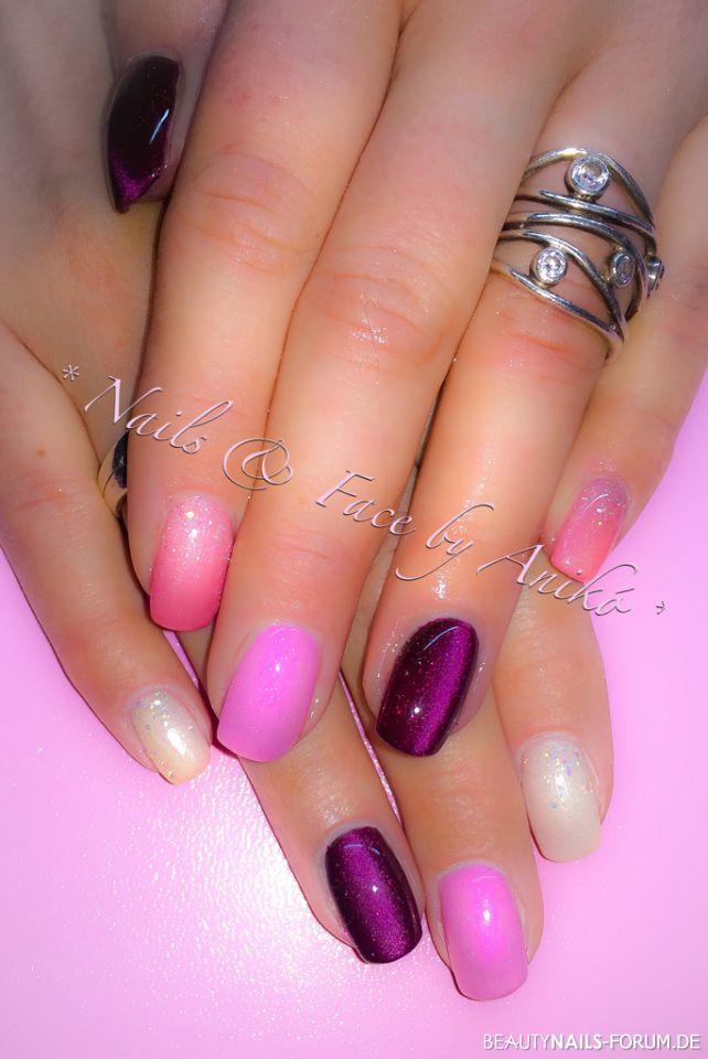 Springtime Colors - rosa, lila, pink, perlmutt Nageldesign