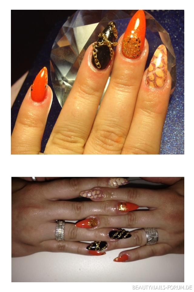 Stiletto Mit Kette Nageldesign