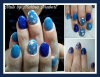 Thermogel Blau Fullcover Nageldesign