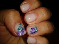 Versuchte One Stroke Nageldesign