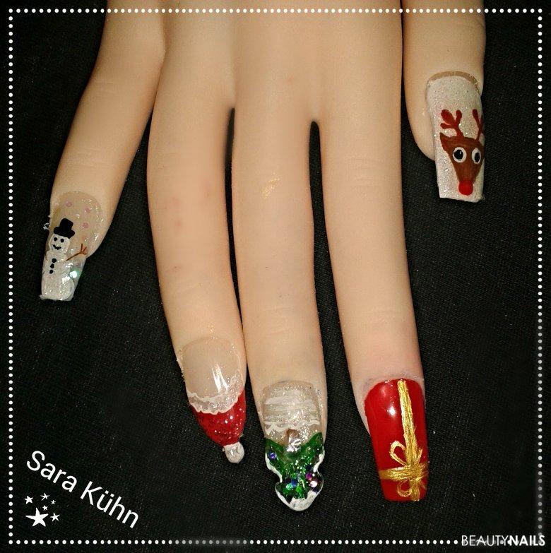Weihnachten-künstliche Nägel