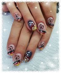 WM Nails Fussball Nageldesign