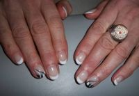 Gelish black & white Naturnägel