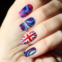Great Britain Nail Art Naturnägel