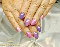 NNV mit Gellack in lila und pink Naturnägel