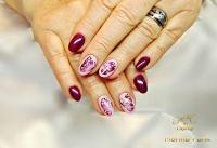 NNV mit Gellack, Schmetterlinge mit Gellack gemalt Naturnägel