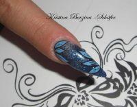 blau Stilettos