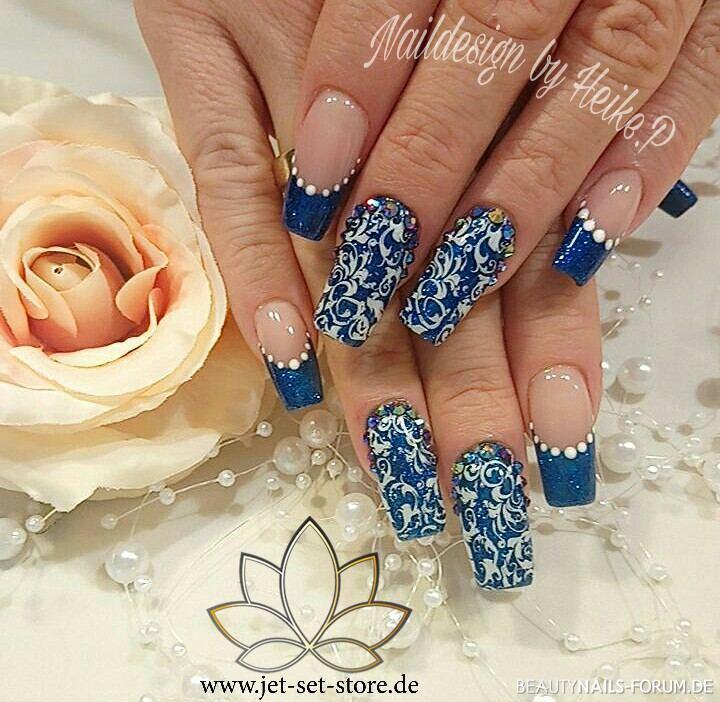 Blaues Stamping Muster