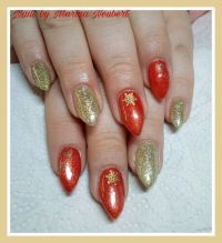 Fullcover Chrome Glam Fire- Gold Winter & Weihnachten