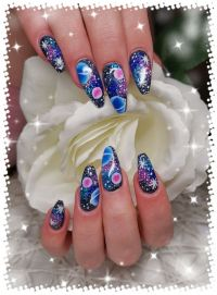 Galaxy Naildesign Winter & Weihnachten