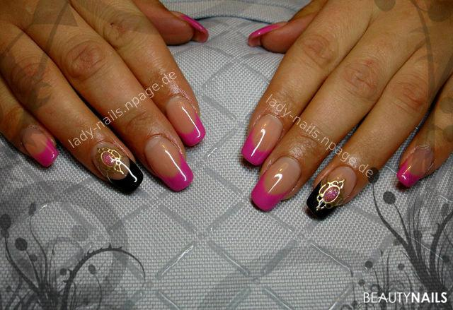 lila-gold, Edelsteinimitation Winter & Weihnachten - farbgel... Nailart