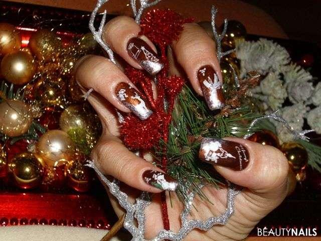 Gelnägel An Weihnachten Schöne Muster Ideen Zum