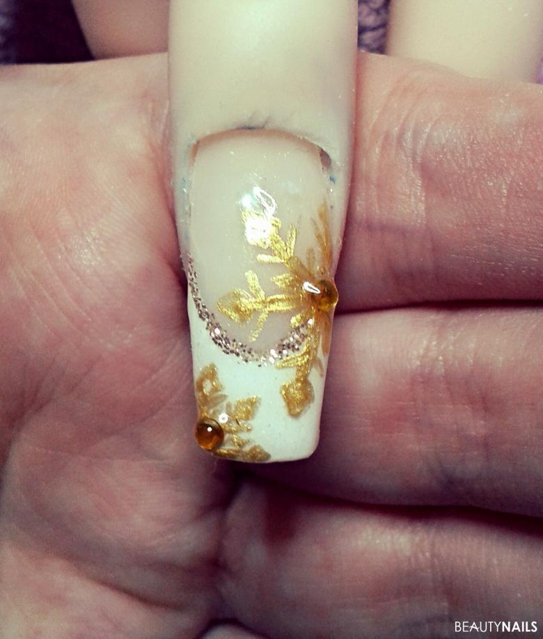 White French goldene Schneeflocken