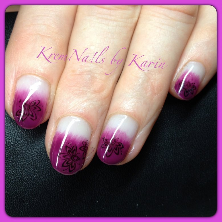 bild verlauf mit gelish plum and done nagellack uv lack. Black Bedroom Furniture Sets. Home Design Ideas