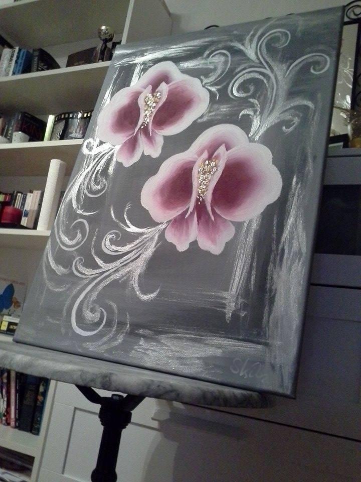 Bild Silberglitzer Und Orchideen Basteln Handarbeiten